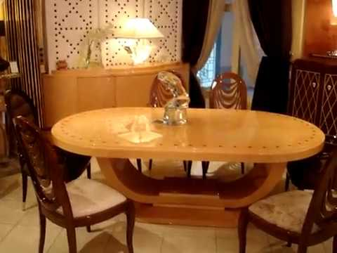 Canap art d co paris cannes mobilier art d co qatar console table youtube - Canape art deco cuir ...