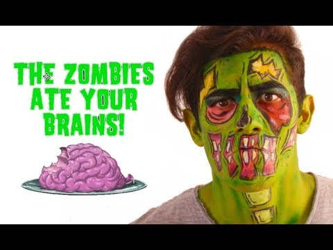 Maquillaje Para Hombres Zombie Pop Art Zombie Pop Art Makeup - Maquillaje-zombie-hombre