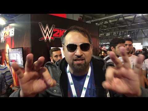 alla Games Week di Milano (stand WWE2K18)