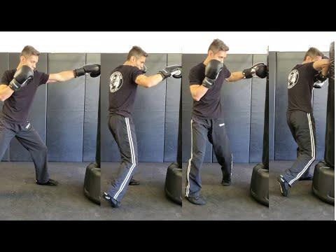 Krav Maga - Jab/Cross/Lead Hook/Rear Elbow Combination (Distance and Footwork)
