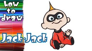 incredibles 2 How to draw and Paint Jack-Jack - learn to draw - drawing lessons - coloring pages