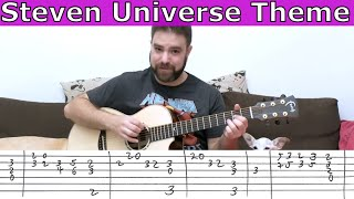 Fingerstyle Tutorial: Steven Universe Theme - Guitar Lesson w/ TAB
