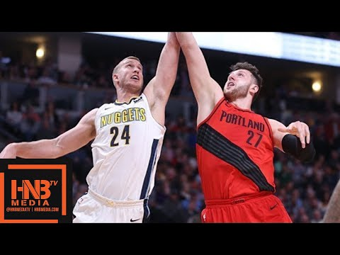 Portland Trail Blazers vs Denver Nuggets Full Game Highlights / April 9 / 2017-18 NBA Season
