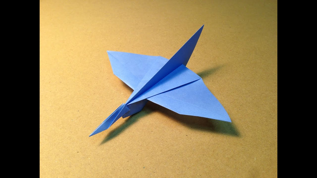 how to make an origami plane common kingfisher youtube