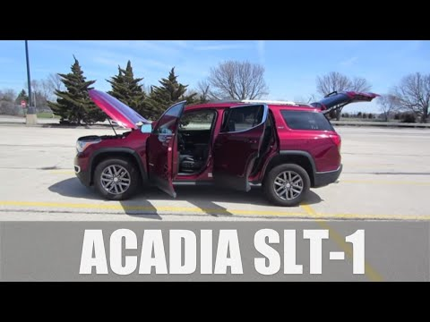 2018 GMC Acadia SLT-1 3.6L V6 AWD // Full Review and Test Drive