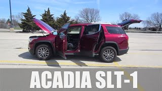 2018 GMC Acadia SLT-1 3.6L V6 AWD // review, walk around, and test drive // 100 rental cars