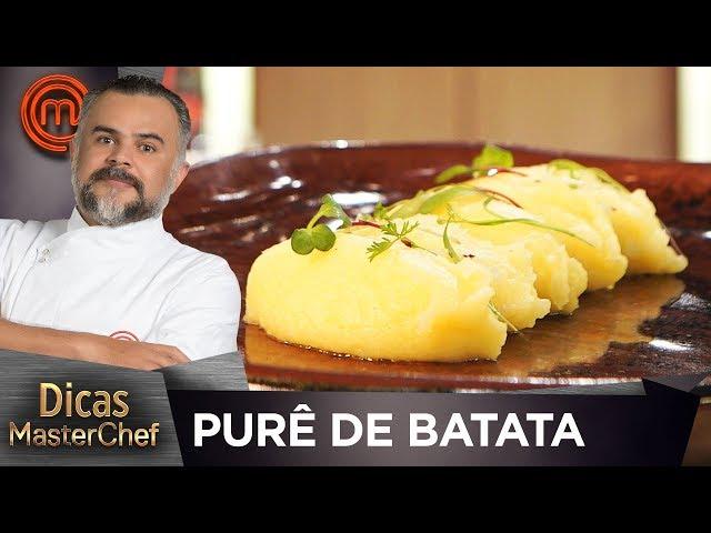 COMO FAZER PURÊ DE BATATA CLÁSSICO com Francisco Pinheiro | DICAS MASTERCHEF