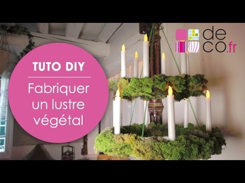 fabriquer un lustre v g tal tuto diy youtube. Black Bedroom Furniture Sets. Home Design Ideas