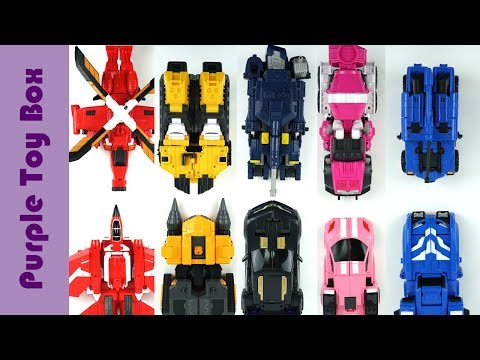 Mini Force X 5 Combined And 4 Combined Transformer Robot 미니특공대X 4단 5단 합체