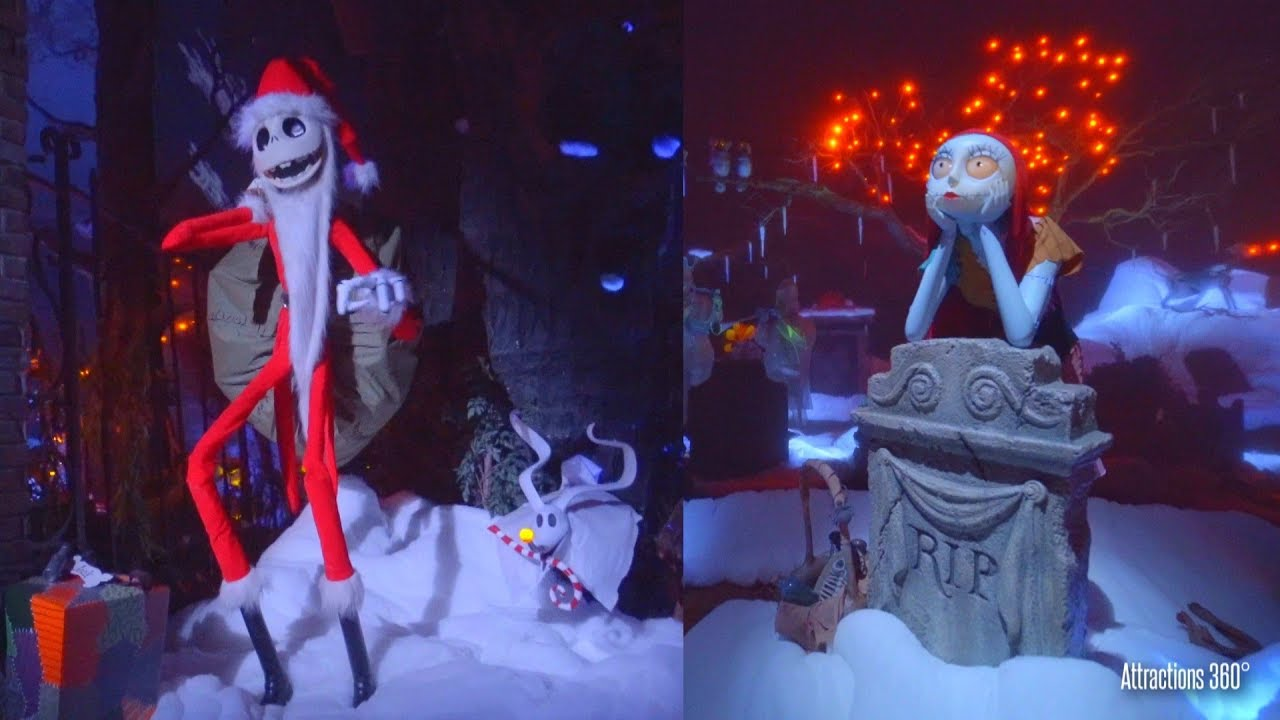 Christmas Los Angeles Disneyland 2020 Firework Youtube Haunted Mansion Ride 2019   Nightmare Before Christmas