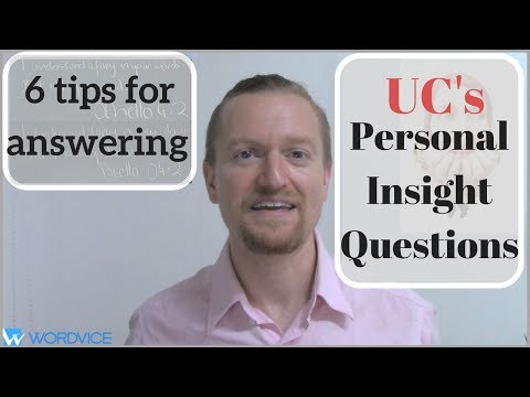6 Tips for Answering the University of California