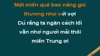 Mien Trung Oi Karaoke - Đan Trường - CaoCuongPro