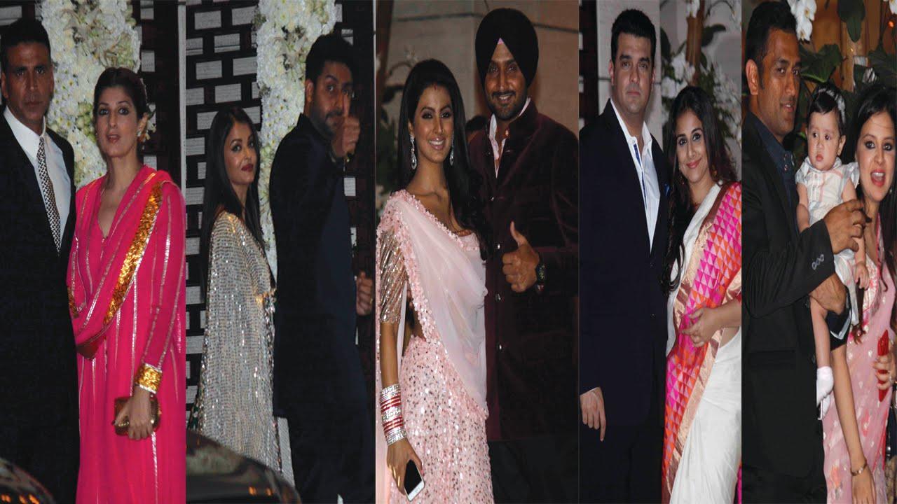 Aishwarya Rai Akshay Kumar Vidya Balan Others At Harbhajan Singh