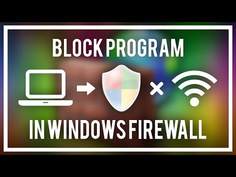 How To Block A Program In Windows FIREWALL - Block Adobe Photoshop, Premiere, Etc And More!