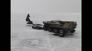 Зимняя рыбалка Финский залив Съезд с Кронштадта 28 03 2009