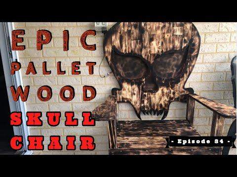 The Best DIY Pallet Wood Skull Chair Around