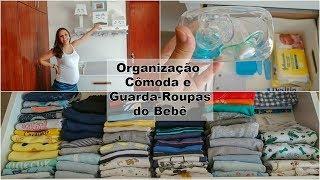 Organização - cômoda e guarda roupas do bebê