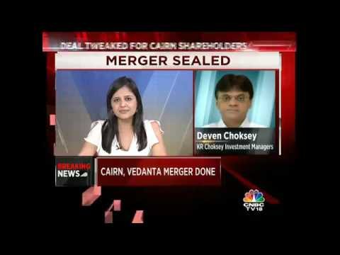 CNBC-TV18 Excl: Cairn, Vedanta Merger Finalised. Shareholders To Vote In September.