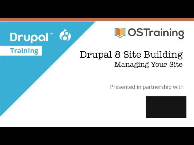 Drupal 8 Site Building, Lesson 2: Planning Our Site
