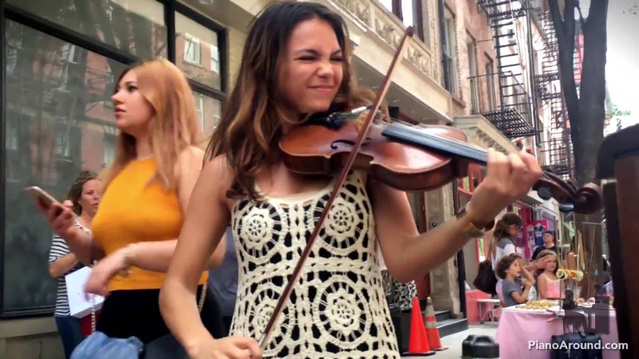 Spontaneous Street Piano and Violin Duet in New York City with Ada - Part 2