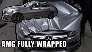 THE BEST CAR I'VE WRAPPED YET!! (Amg C63 Twin Turbo V8)