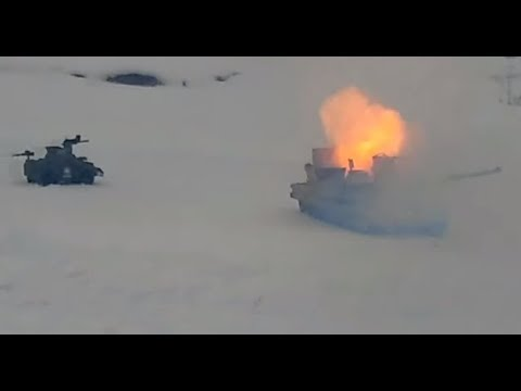 2017 Military Test Of Gold Antimatter Bomb On M1 Abrams Tank