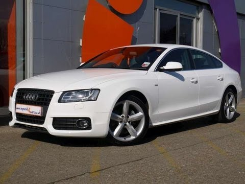 2010 audi a5 sportback s line 2 0tdi 170 white 5dr for sale in hampshire youtube. Black Bedroom Furniture Sets. Home Design Ideas