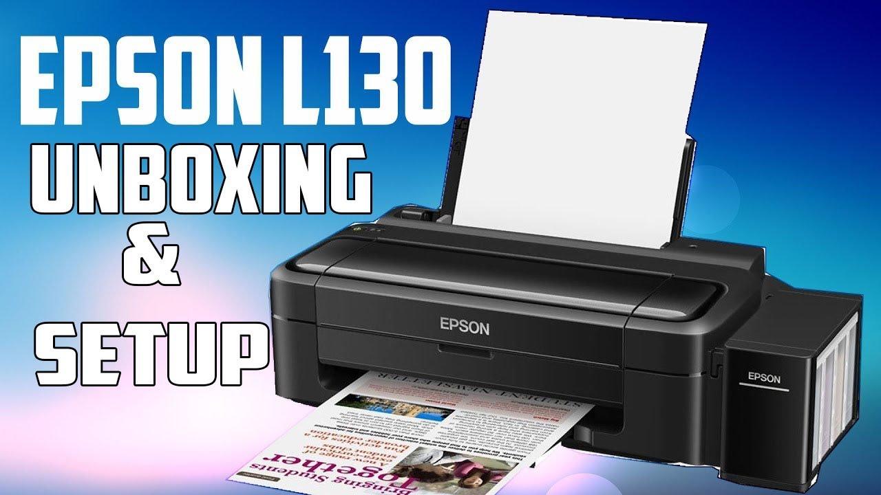 Color printing inkjet vs laser - Epson L130 Single Function Colour Printer Unboxing Setup First Impression