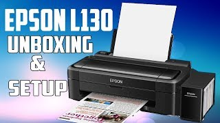 Epson L130 Single Function Colour Printer Unboxing & Setup | First Impression