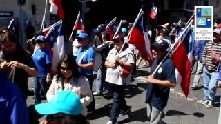 Municipales de El Quisco participan de la marcha regional en Valparaiso