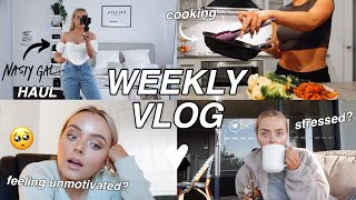 WEEKLY VLOG | ft. NASTY GAL HAUL | HOW TO BE PRODUCTIVE WHEN YOU FEEL UNMOTIVATED? | Conagh Kathleen