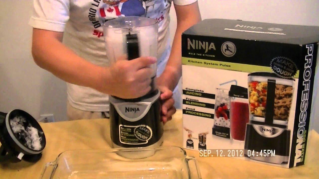 ninja kitchen system pulse table lighting ice crushing demo youtube