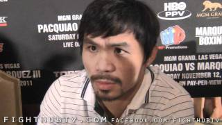 "Manny Pacquiao ""He (Mayweather) is Creating Rules Because He dont want to fight"""