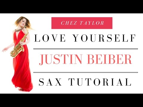 Beiber Love yourself on sax. Only 3 notes. Quick easy tune for beginner 🎶 Saxophone Lesson/tutorial