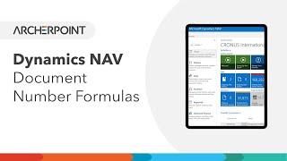 Dynamics NAV - Document Number Formulas