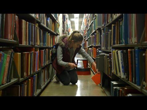 Mugar Library Behind the Scenes During Study Week