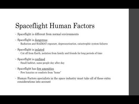 Spaceflight Human Factors
