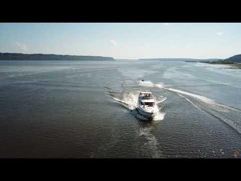DJI Mavic Pro 4k - Mississippi River - Dubuque, Iowa - Silverton 38 Sport Bridge