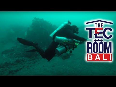 105m Tec Deep Trimix Dive Tulamben - Bali
