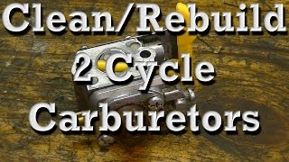 how to clean rebuild walbro zama 2 cycle carburetors on chainsaws trimmers