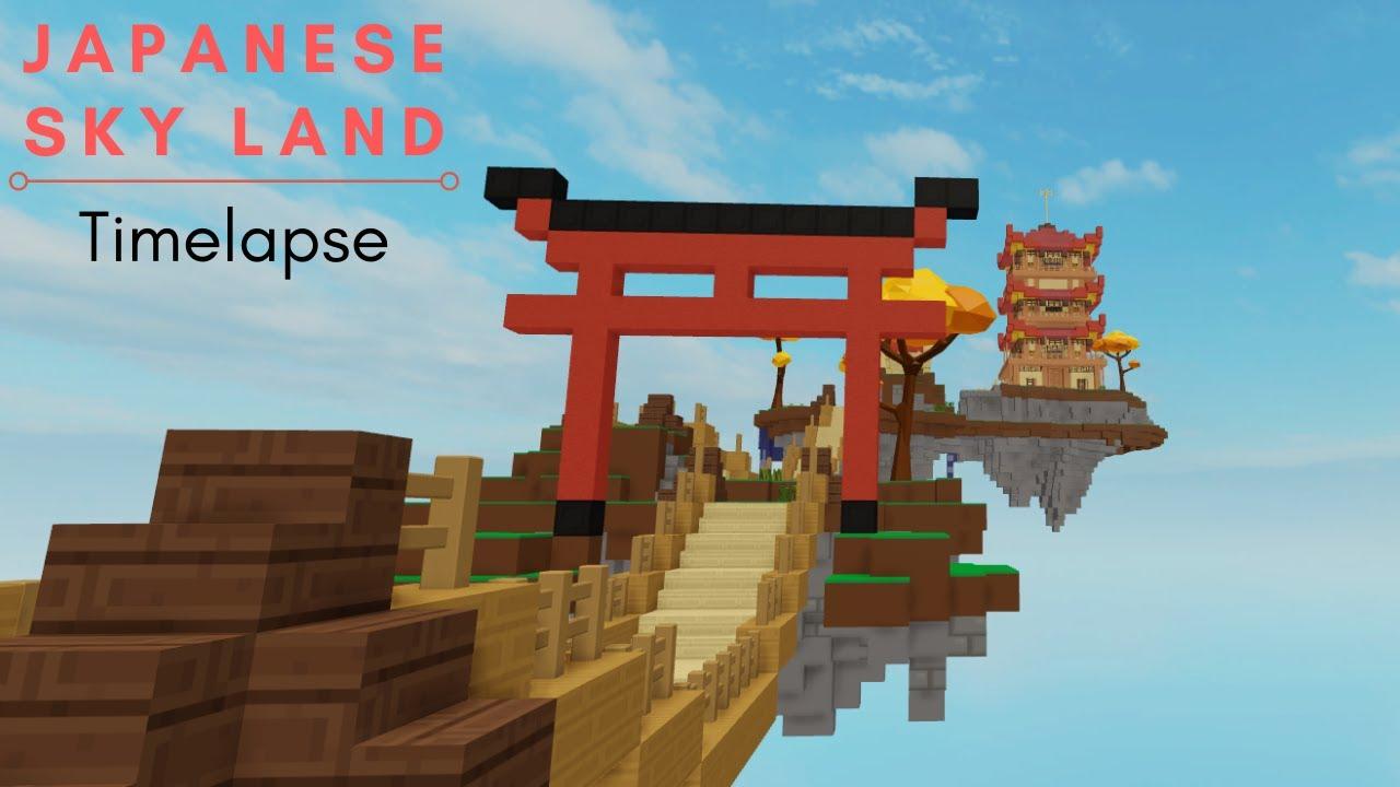 Japanese Sky Land Timelapse I Roblox Skyblock Youtube