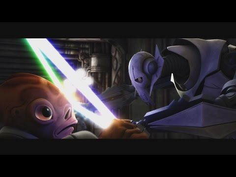 Star Wars: The Clone Wars - Nahdar Vebb vs. General Grievous [1080p]
