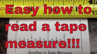 Easy how to read a tape measure