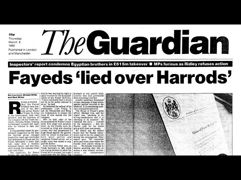 Cash for Questions 4: The Guardian's previous reporting of Mohamed Al Fayed