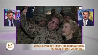 Ursula von der Leyen ma Brüsszelben tárgyal Orbán Viktorral