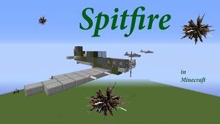 Spitfire fighter plane in Minecraft