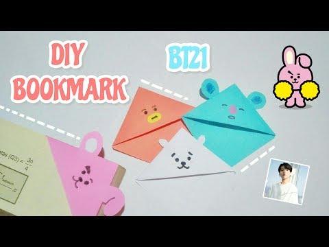 DIY school supplies Bookmark BTS BT21   DIY pembatas buku bt21