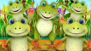 Пять маленьких Пестрая Лягушки | Five Little Speckled Frogs | Little Treehouse Russia | Nursery Kids