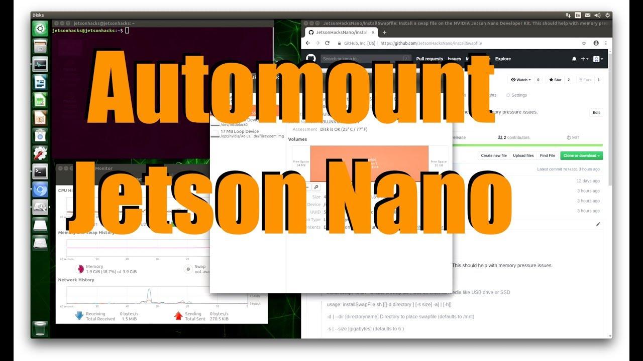 Jetson Nano - Automount Drive