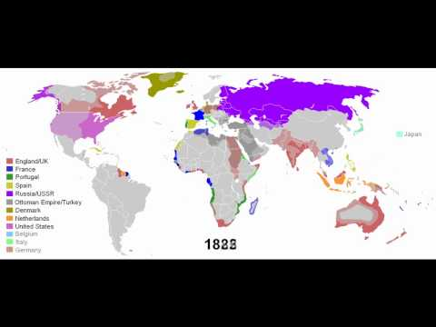 European Colonial Empires  1492-2008